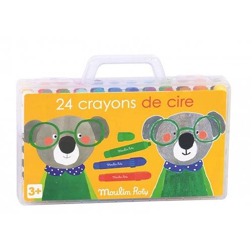 Boîte de 24 crayons de cire