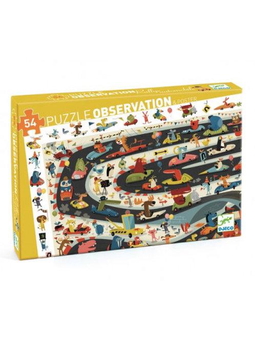 Puzzle d'observation Rallye 54 pièces