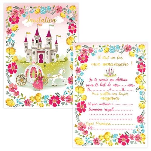 Cartes d'invitations Château X8