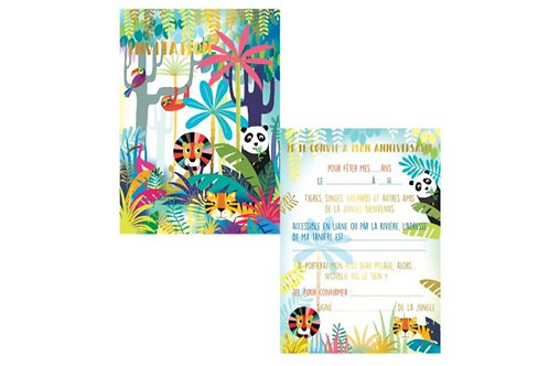 Cartes d'invitations Savane X8