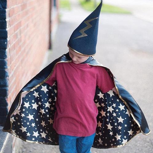 Cape réversible et chapeau Magicien