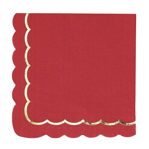 Serviettes à festons Rouges