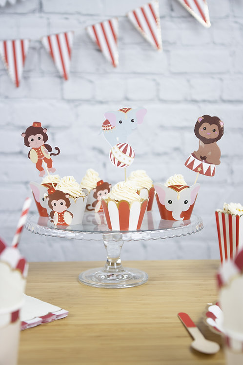 Cake toppers Vintage Circus X3
