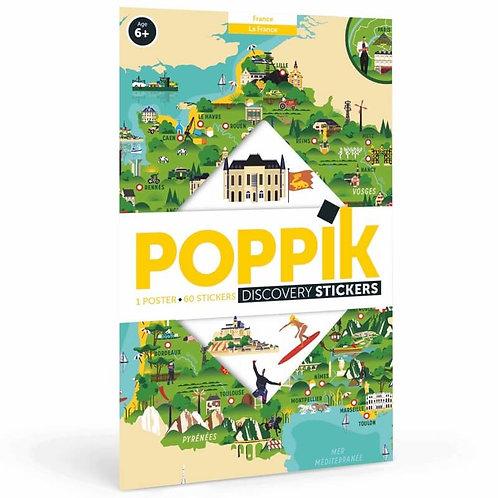 Poster géant + 88 stickers Carte de France