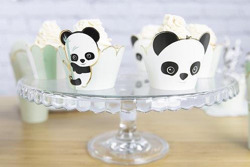 Cupcake Wrappers Panda X6