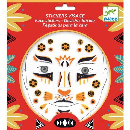 Stickers visage Léopard