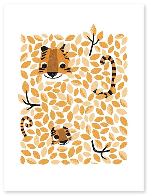 Affiche Cache-cache Tigre