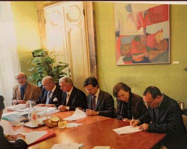 Signing of the official documents, September 2009 Palazzo Vechhio