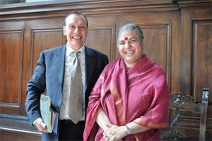 Mr Pietro Laureano and Dr Vandana Shiva