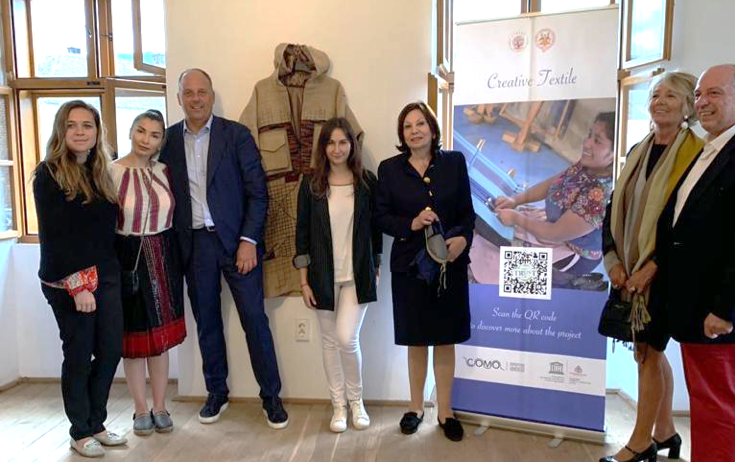 From left: Ms. Camille Sturdza, Ms. Sinziana Bujor, Mr. Stefano Vitali, Mrs. Tatiana Bordeianu, Mrs. Elizabeth Nobrega de Araujo Tsakiroglou, Mrs. Annamaria Biagini e Mr Giuseppe Biagini