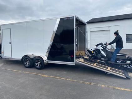 Inline Snowmobile Trailer
