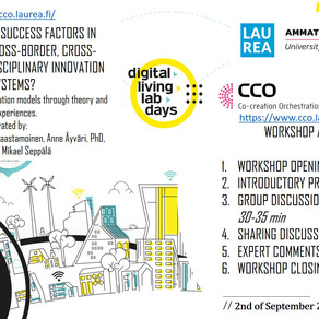 Findings from CCO expert discussion workshops on Key success factors in orchestrating September 2020