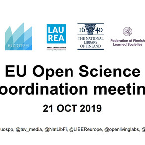 Presentations from EU Open Science coordination meeting 21 Oct 2019