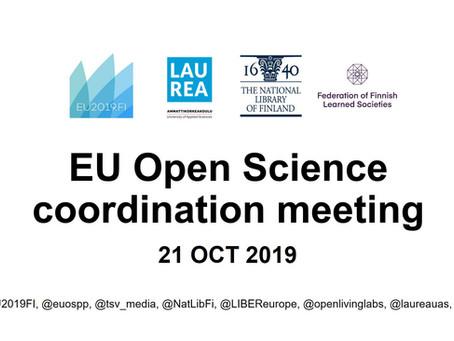Presentations from EU Open Science coordination meeting 21 Oct 2019