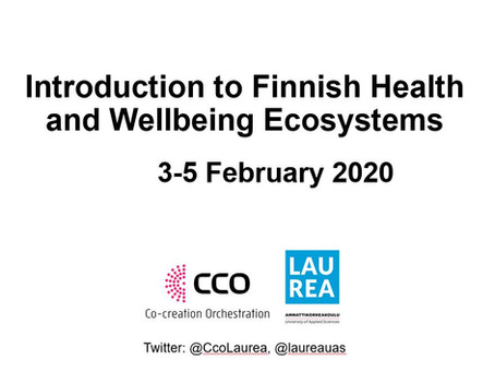 Presentations from Introduction to Finnish Health and Wellbeing ecosystems 5 Feb 2020