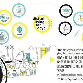CCO presenting an article on multi-stakeholder innovation ecosystem orchestration at DLLD on 4 Sept