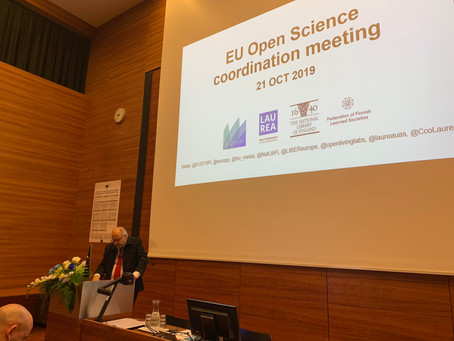 CCO Laurea orchestrated EU Open Science Coordination and OSPP Meetings 21-22 OCT 2019