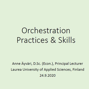 CCO presenting orchestrator practices and skills in InHolland webinar 24 Sept 2020