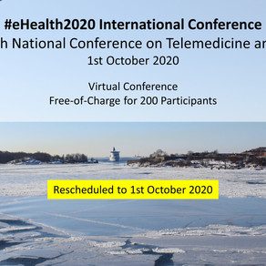CCO participating in #eHealth2020 International Conference on Telemedicine and Health 1 Oct 2020