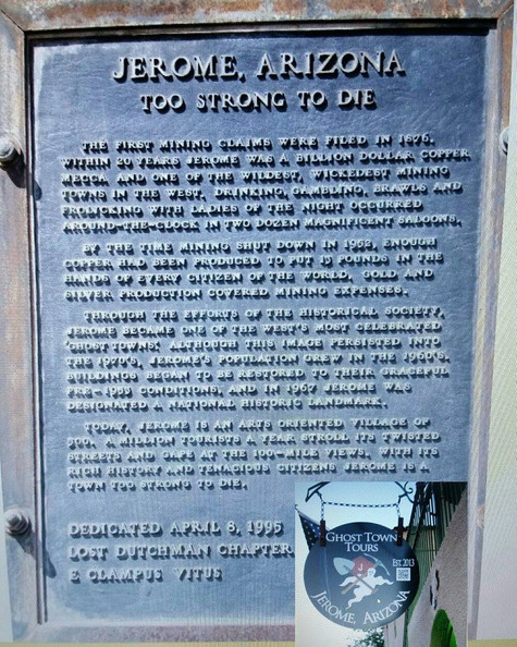 """Jerome, """"The Ghost Town of Arizona."""""""