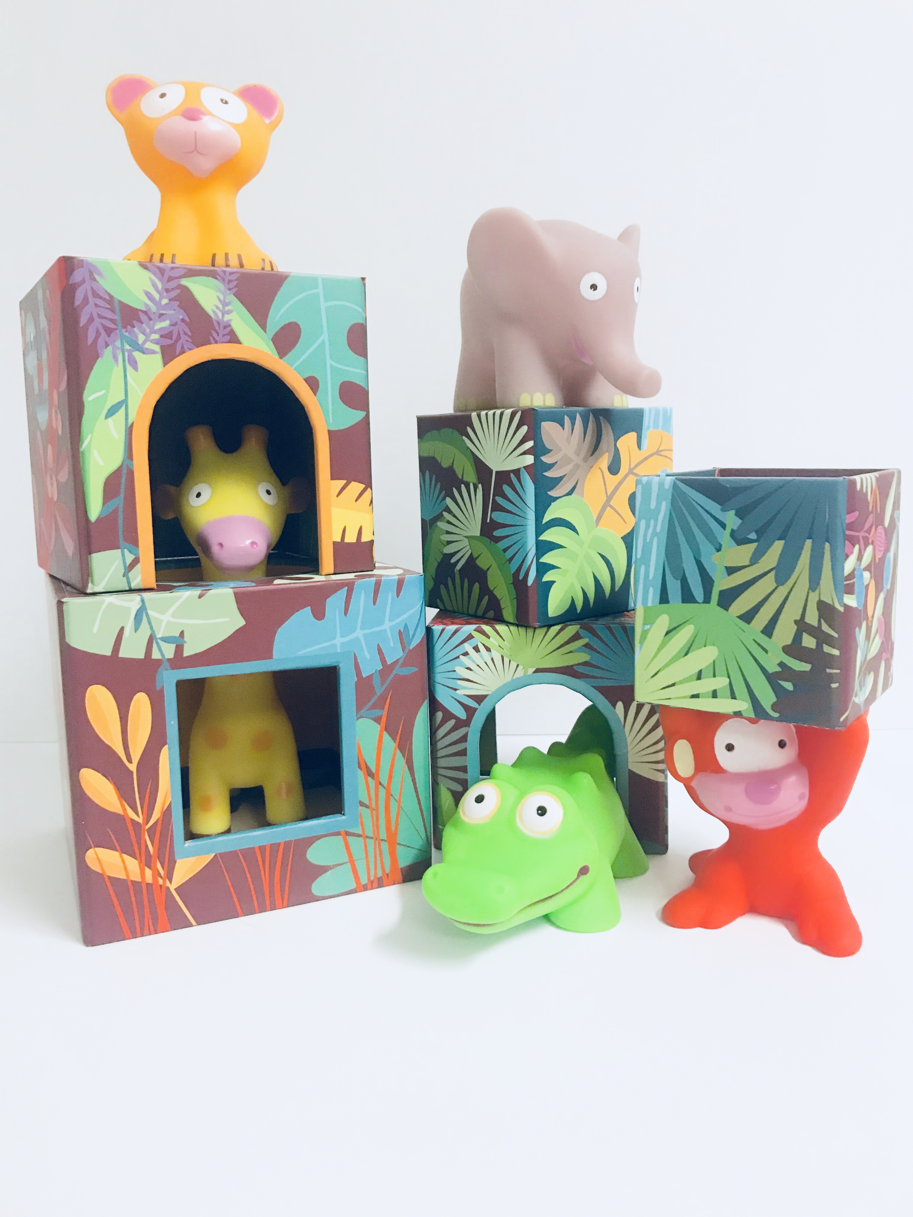 Stackable Blocks and Jungle Animals