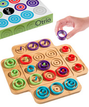 Otrio Game, Board Game, Wooden Board Games; Marbology