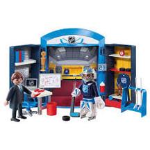 Playmobil Playsets, Playmobil NHL Playset, NHL Locker Room Playset