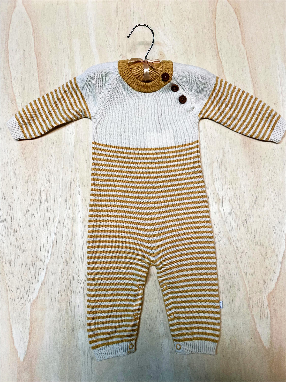Elegant Baby Striped Jumpsuit