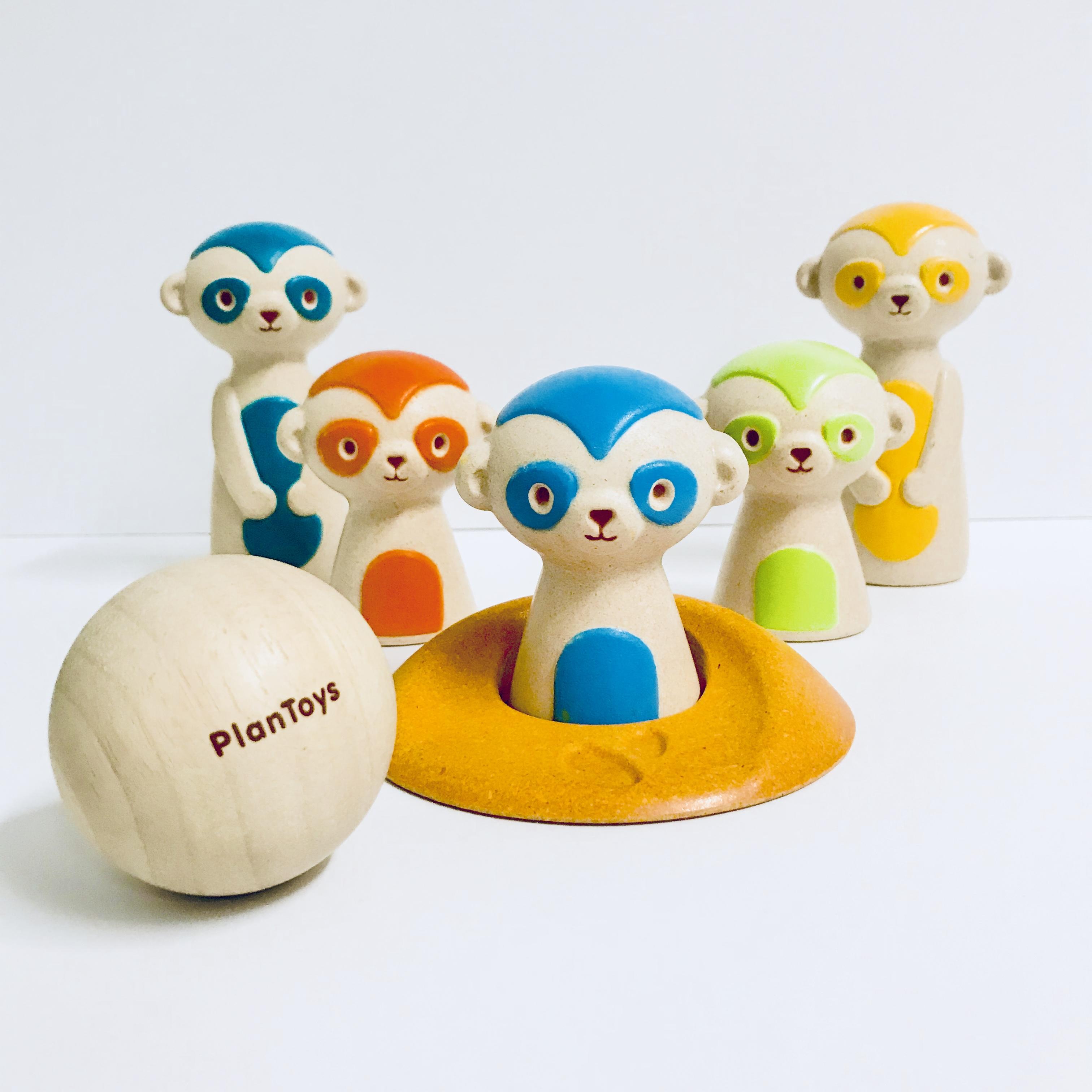Plan Toys Meercat Bowling