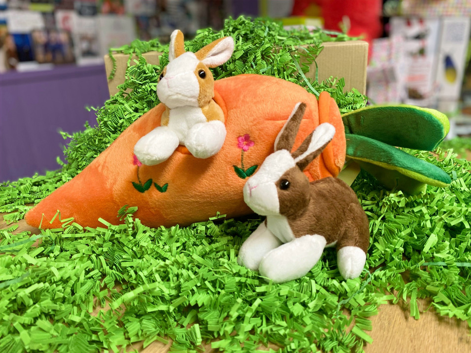 Two Bunnies in a Carrot House