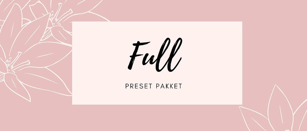 Preset pakket 'Full'
