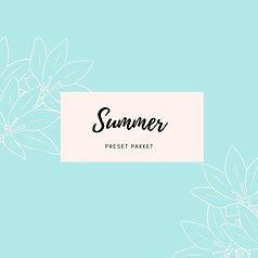 Preset pakket 'Summer'