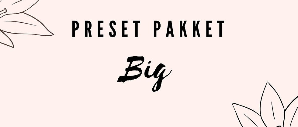 Preset pakket 'Big' (gsm)
