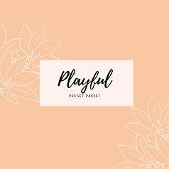 Preset pakket 'playful'