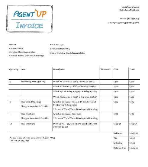 Invoice 6.1.15 - 6.28.15