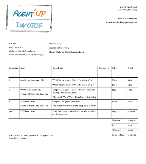 Invoice 6.1.15 - 6.14.15