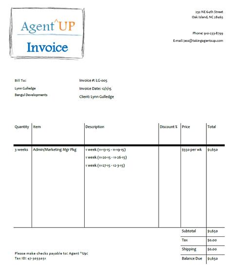 Invoice 11.13 - 12.3.15