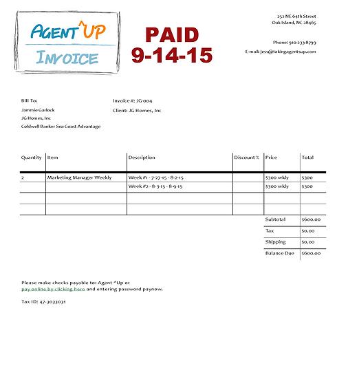 Invoice 7.27 - 8.9.15 (PAID 9.14.15)