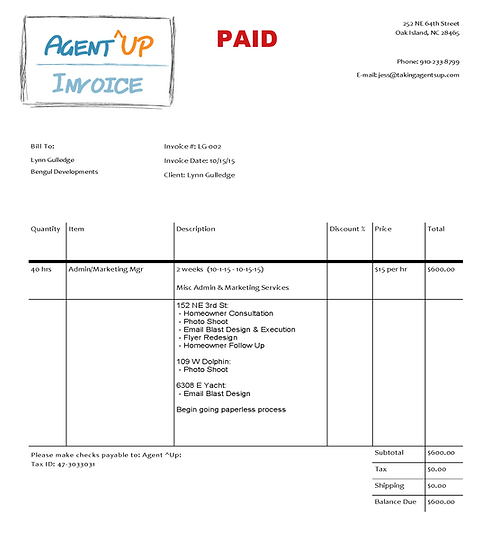 Invoice 10.16.15 - 10.29.15