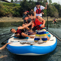 Learning team work and SUP skills.