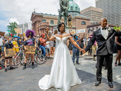 Imagine Getting Married in the Midst of a Black Lives Matter Protest