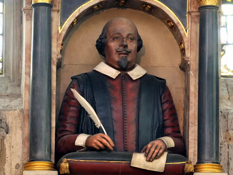 Sculpted Likeness of Shakespeare Revealed