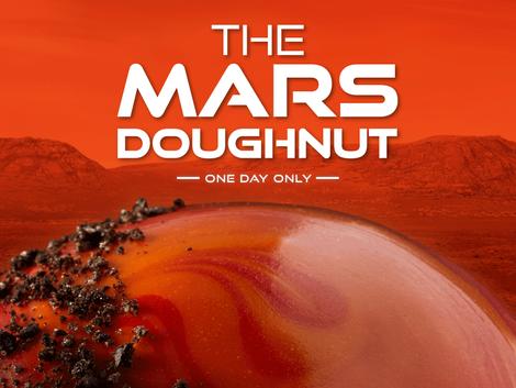 Krispy Kreme's Offers Commemorative Mars Rover Doughnut for One Day