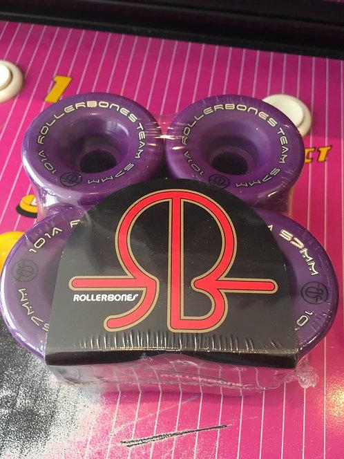 """Rollerbones """"Logo"""" Wheels, 57x30mm, 101A, purple, 8 Stk."""