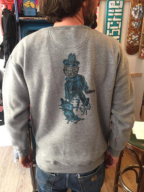 """Shredderei Shop Pullover """"Messerstadt Leipzig"""", grau"""