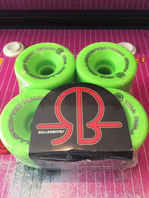 "Rollerbones ""Logo"" Wheels, 62x30mm, 101A, green, 8 Stk."