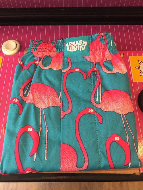 "Lousy Livin Boxershorts, ""Flamingo"", Royal, Gr. L"