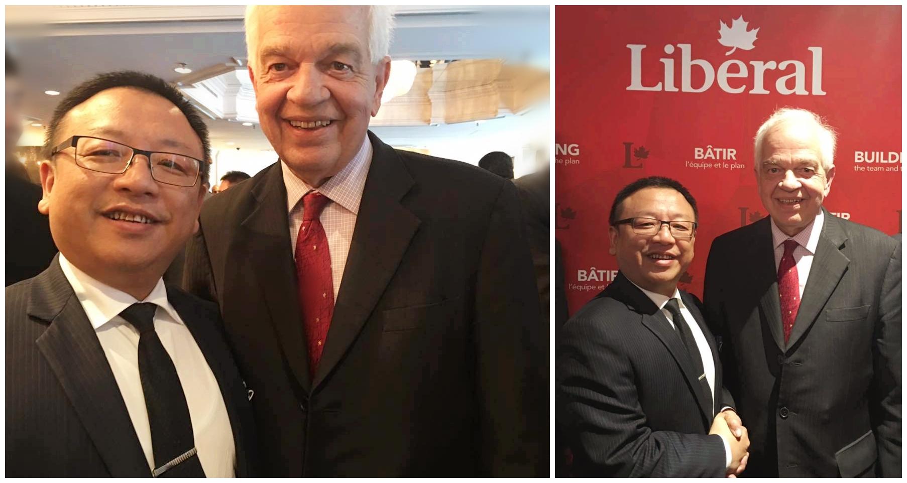 羅賓先生與加拿大現任移民部長John McCallum先生