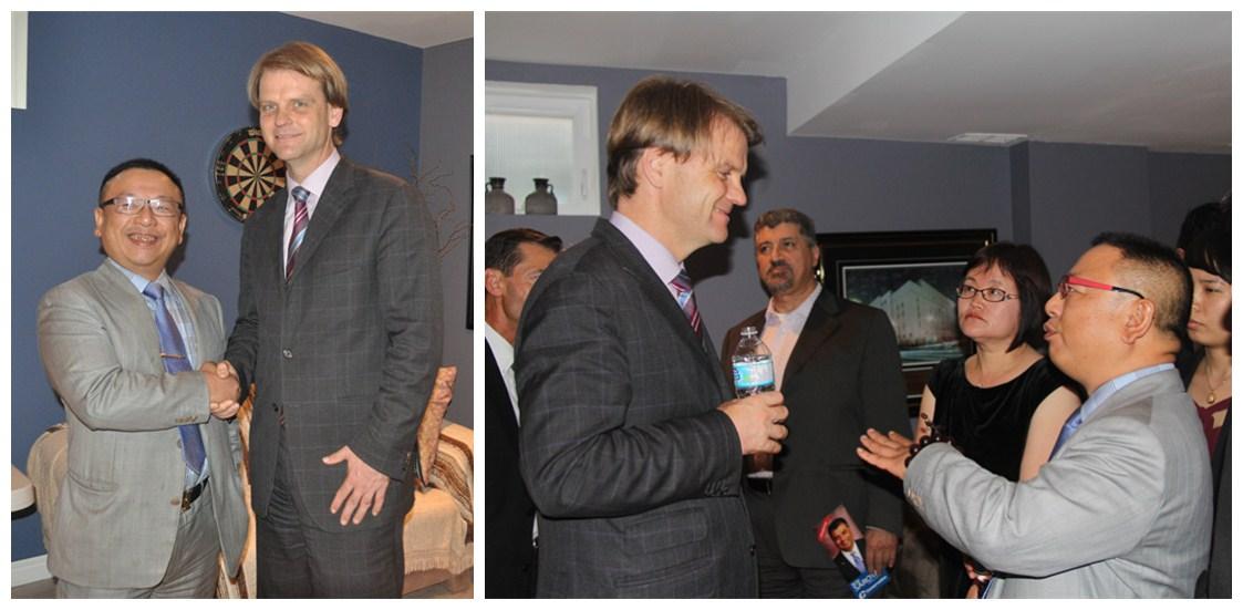 羅賓先生與加拿大前任移民部長Chris Alexander先生