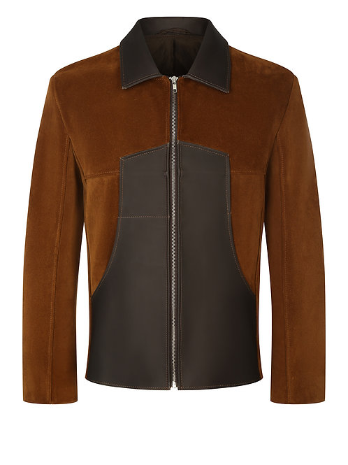 SUEDE LEATHER JACKET (THERMOSENSITIVE)